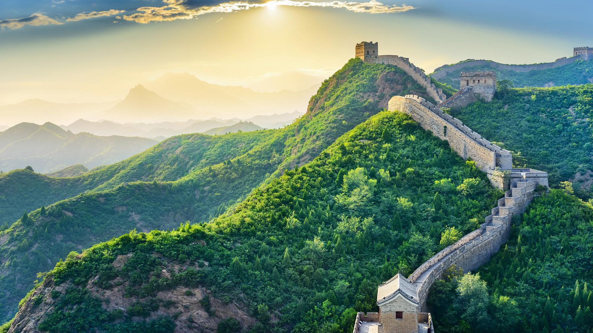The Great Wall of China Beijing Huairou District Windows 10 1920x1080