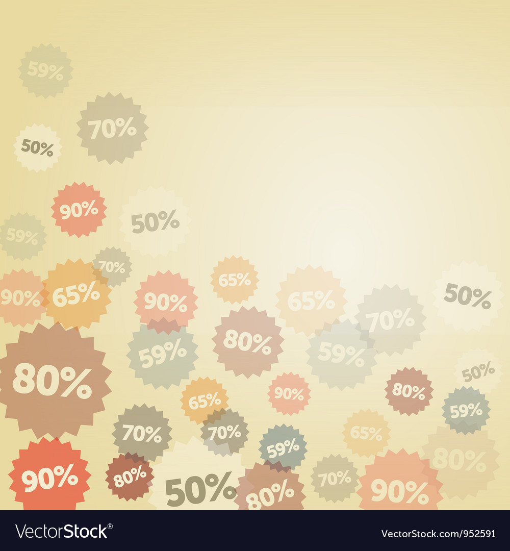Yellow Discount Background Royalty Vector Image 1000x1080