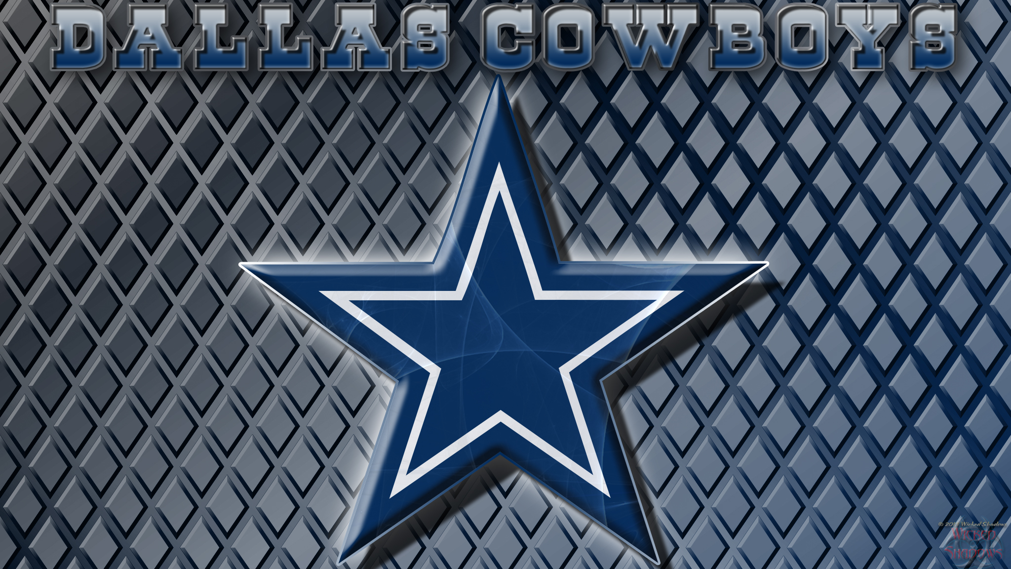 Wallpapers By Wicked Shadows Dallas Cowboys Logo Wallpaper 2048x1152