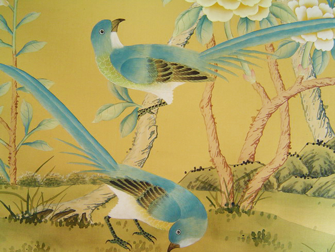 Made in China chinoiserie silk wallpaper 660x496