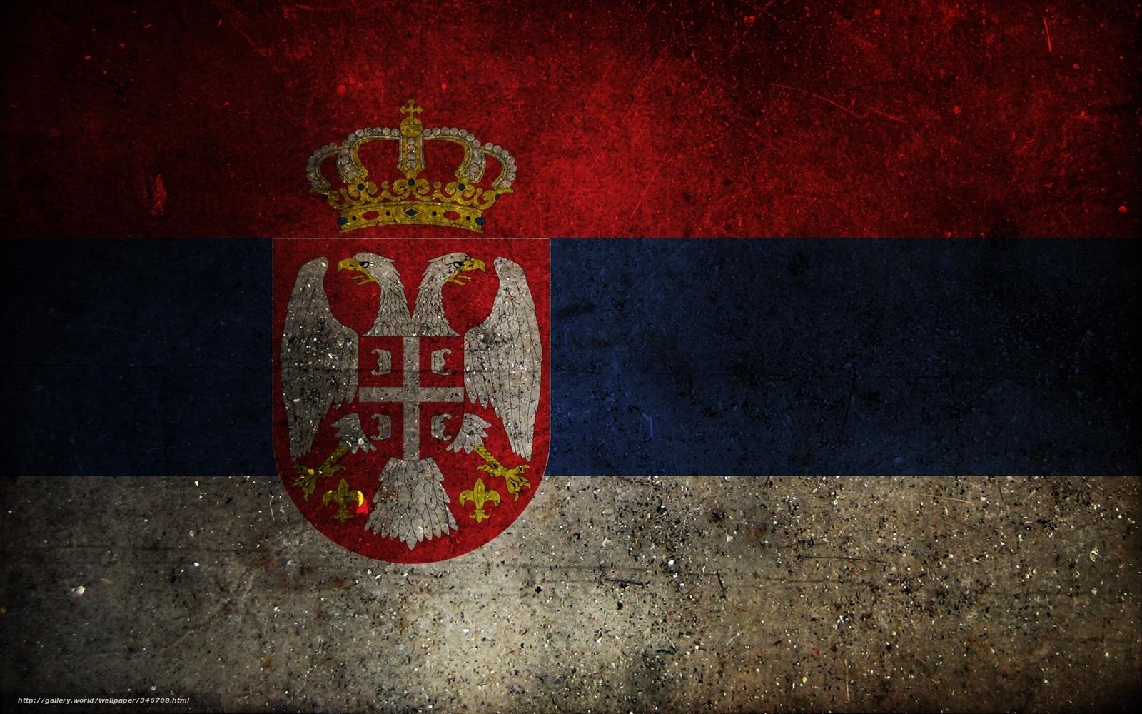Download Download wallpaper flag coat of arms serbia desktop 1600x1000