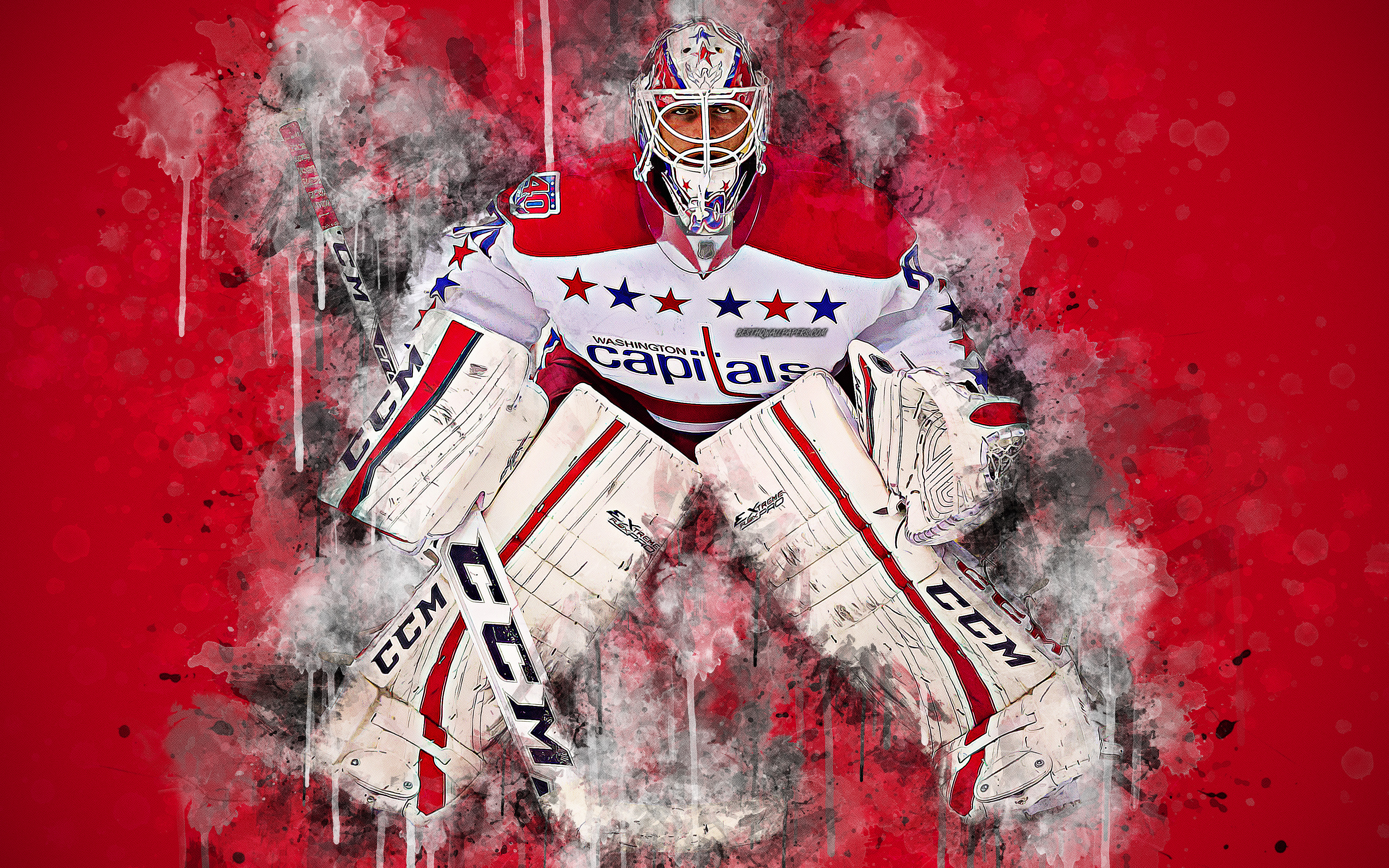 Download wallpapers Braden Holtby 4k Canadian hockey player 3840x2400