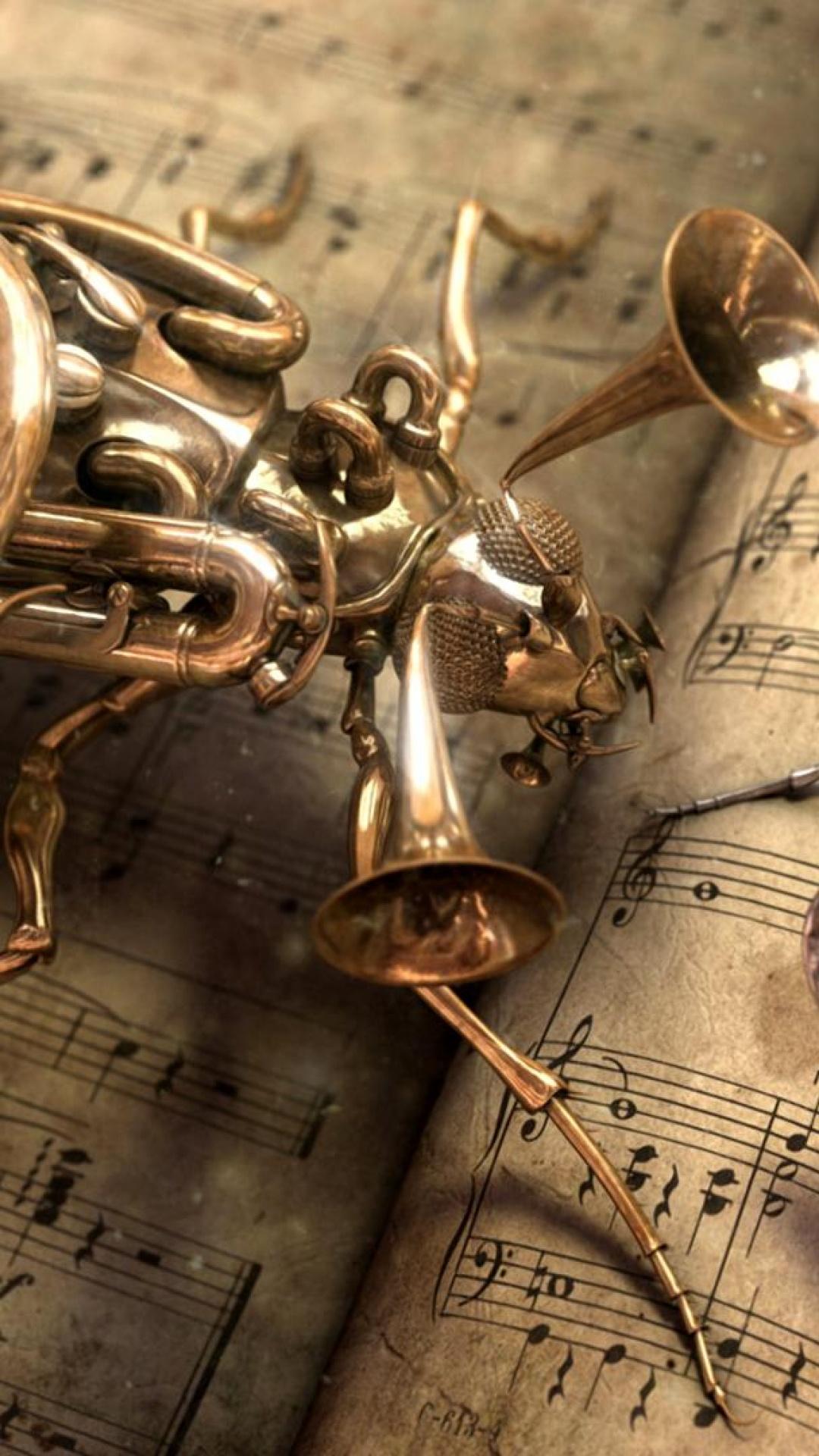 Musical Bug Steampunk iPhone 6 Plus HD Wallpaper 1080x1920