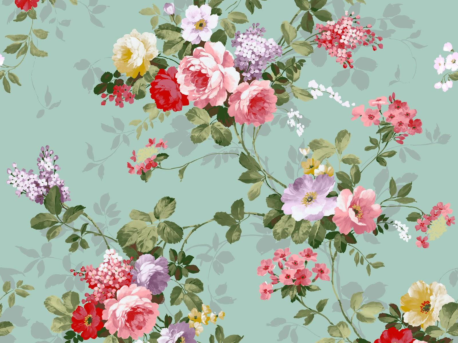 Download Classic Floral Vintage Design Wallpaper 1600x1200