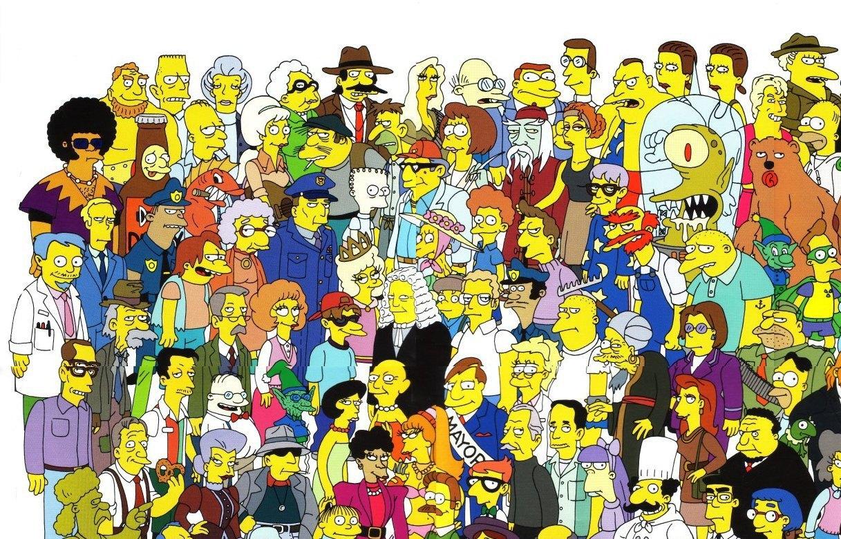 Симпсоны все герои имена с картинками таких помещениях