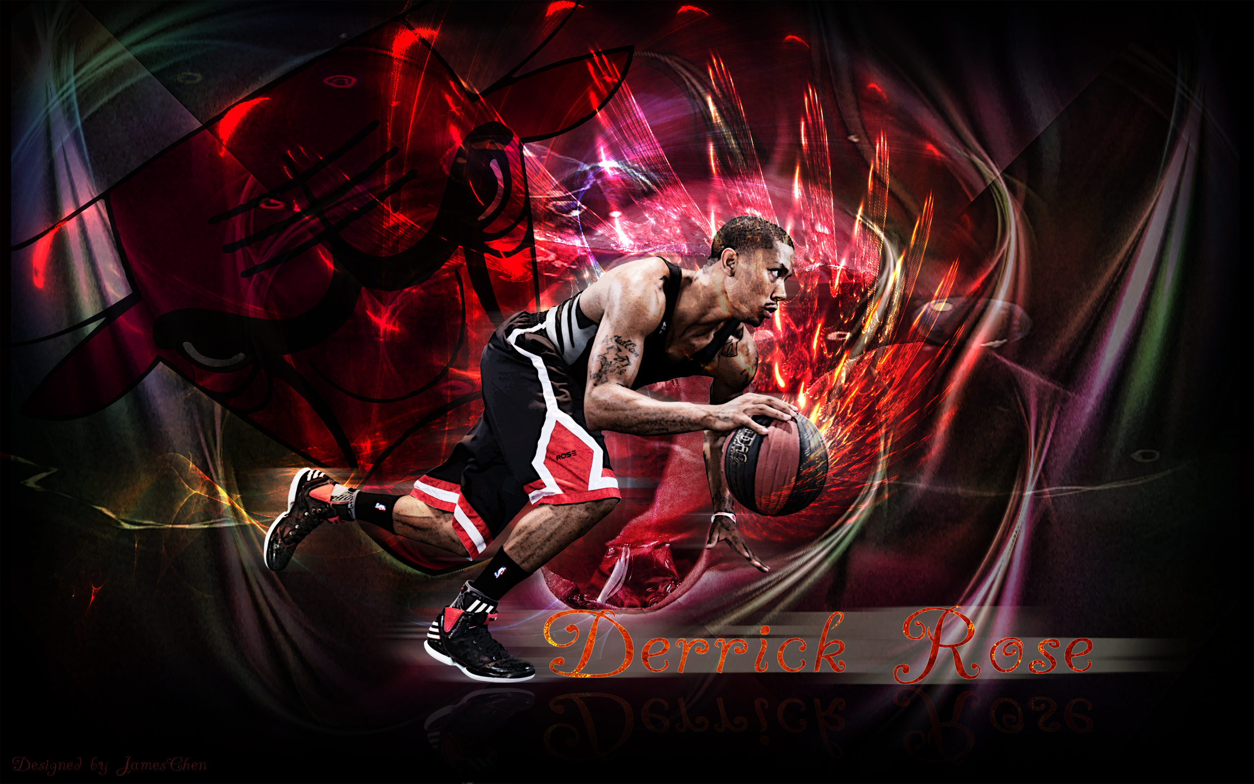 derrick rose hd wallpaper 1920x1080 - wallpapersafari