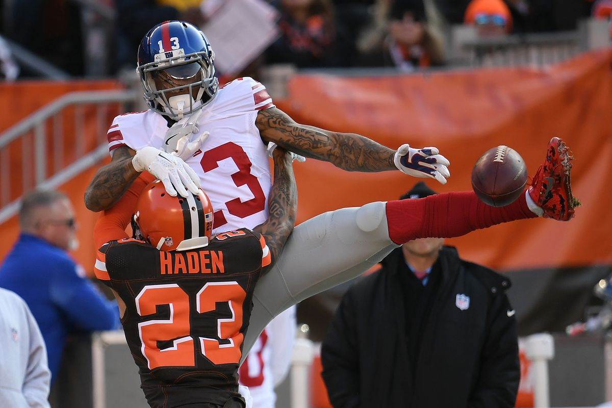 Odell Beckham Jr injures his thumb in Giants vs Browns 1200x800