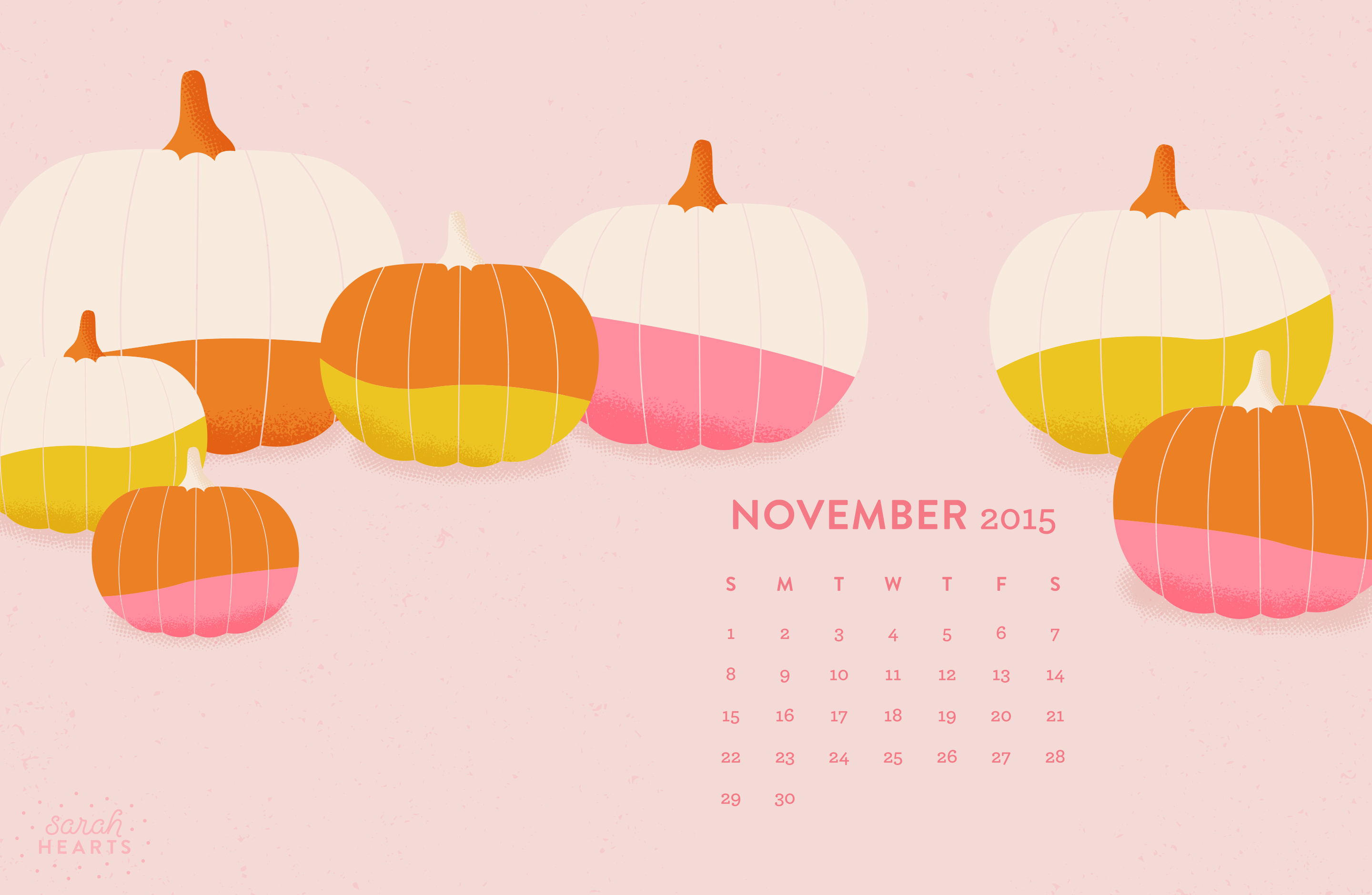 November 2015 Calendar Wallpaper   Sarah Hearts 2880x1880