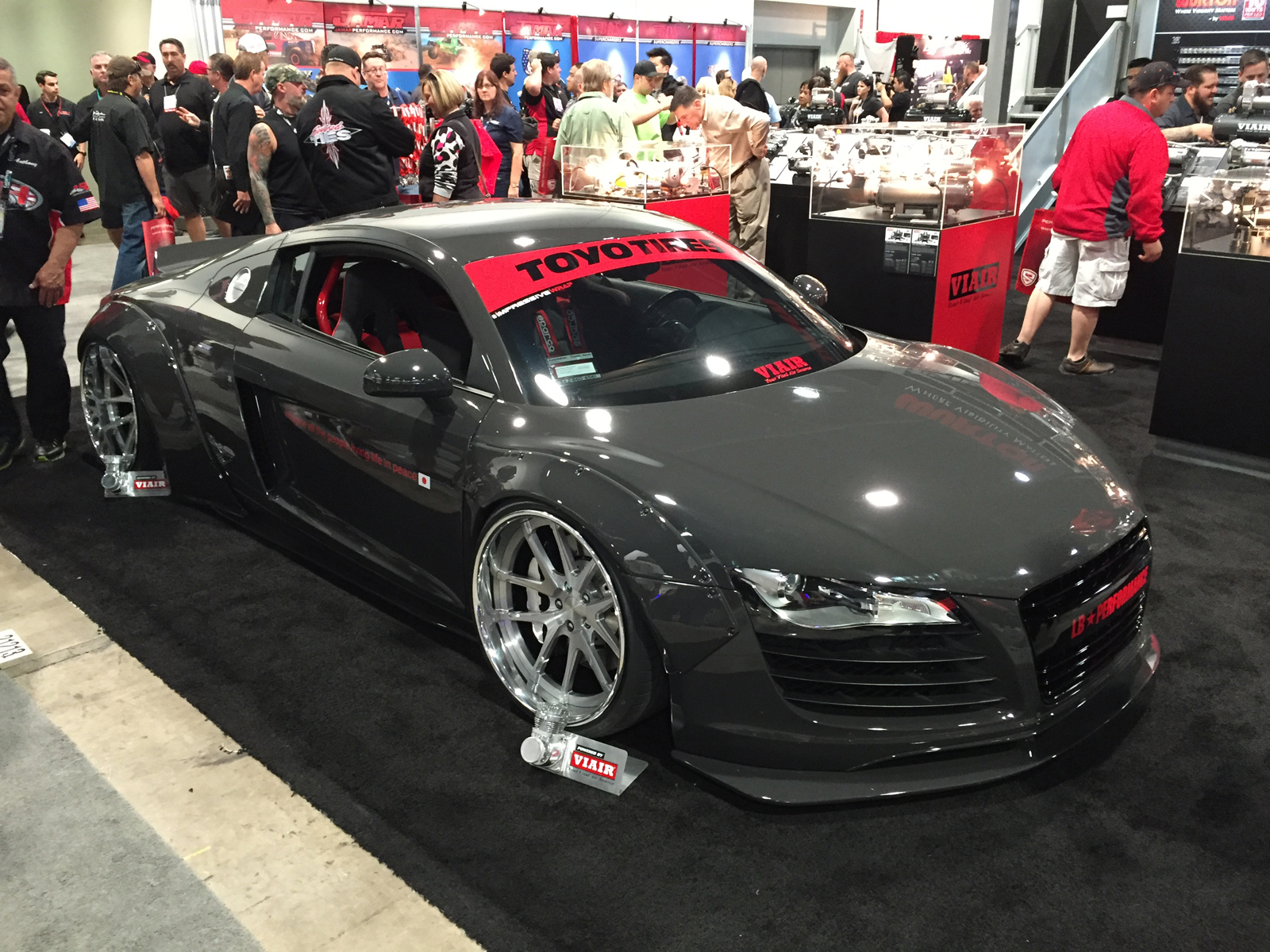 The ultimate Widebody Audi R8 by Liberty Walk at 2015 SEMA Show 1600x1200
