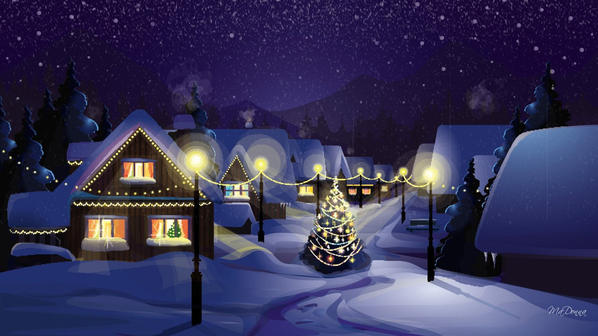 Download Christmas Village Wallpapers in HD from 2015 1920x1080