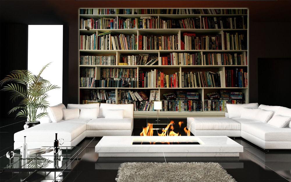 Free Download Bookshelf Prepasted Wallpaper Mural Tv Photo