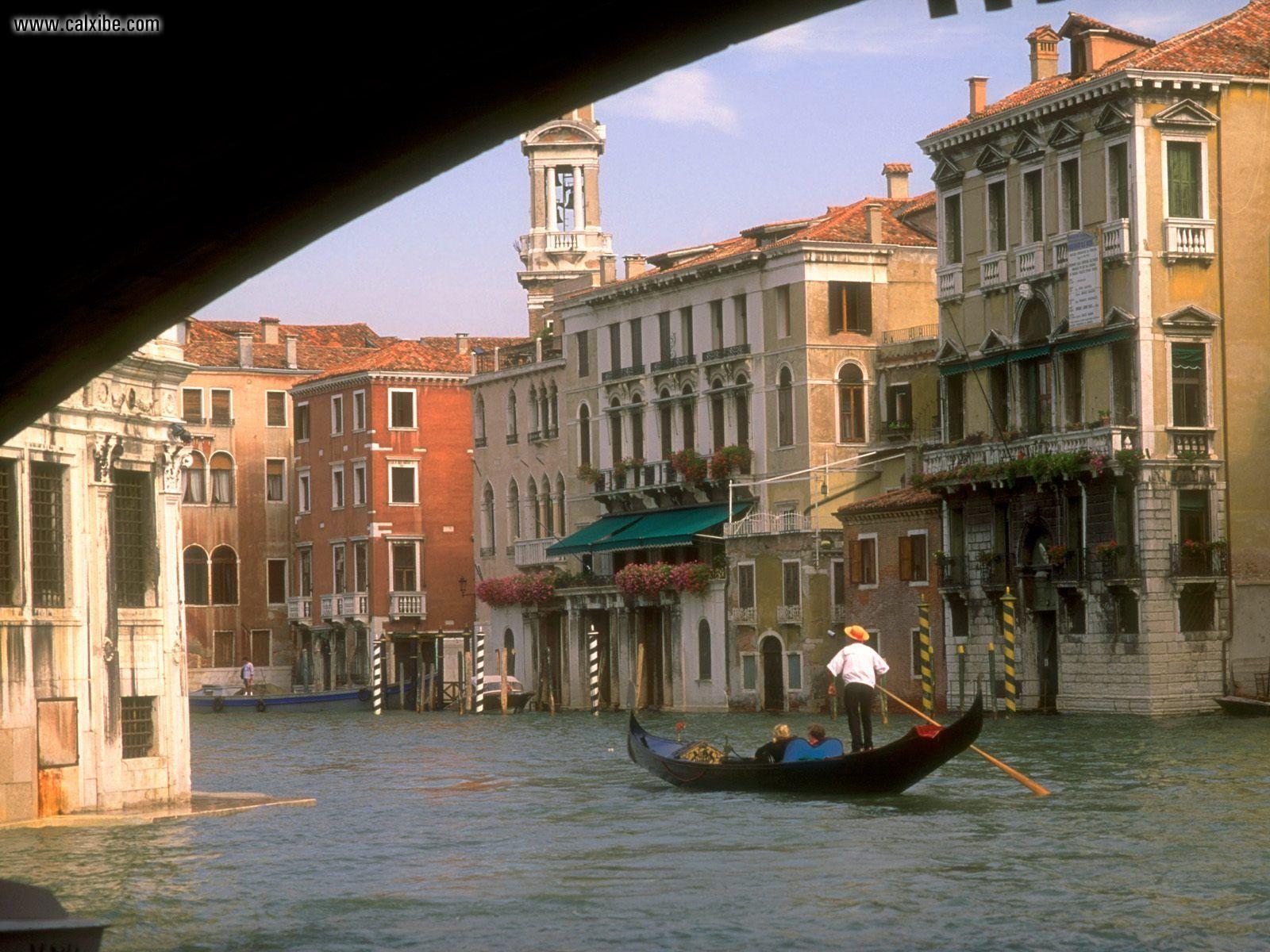 Sunset Over Grand Canal, Venice, Italy  № 1471223  скачать