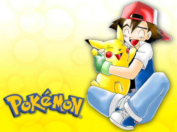 Pokemon Ash and Pikachu wall by GBlastMan 600x450