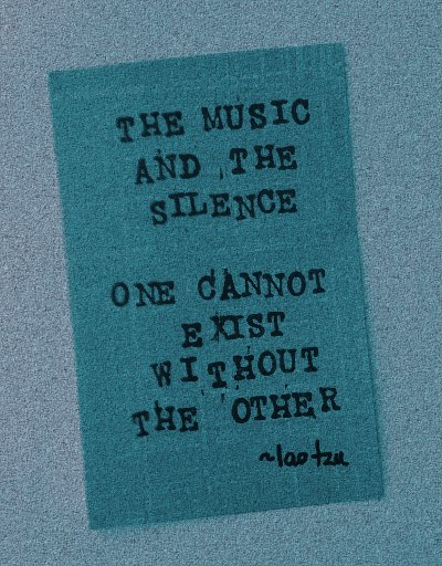 The Music and the Silence Tao Te Ching Daily 400x512