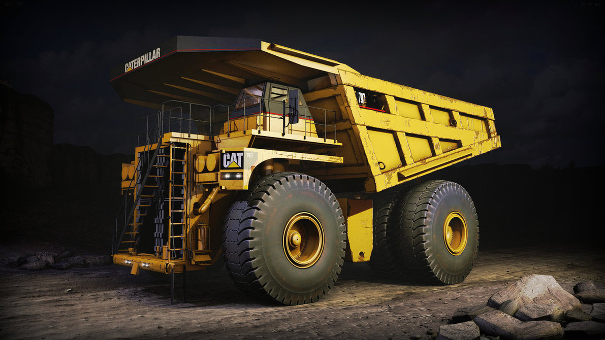 Caterpillar 797 BF Mining Truck by YoRoque 1191x670