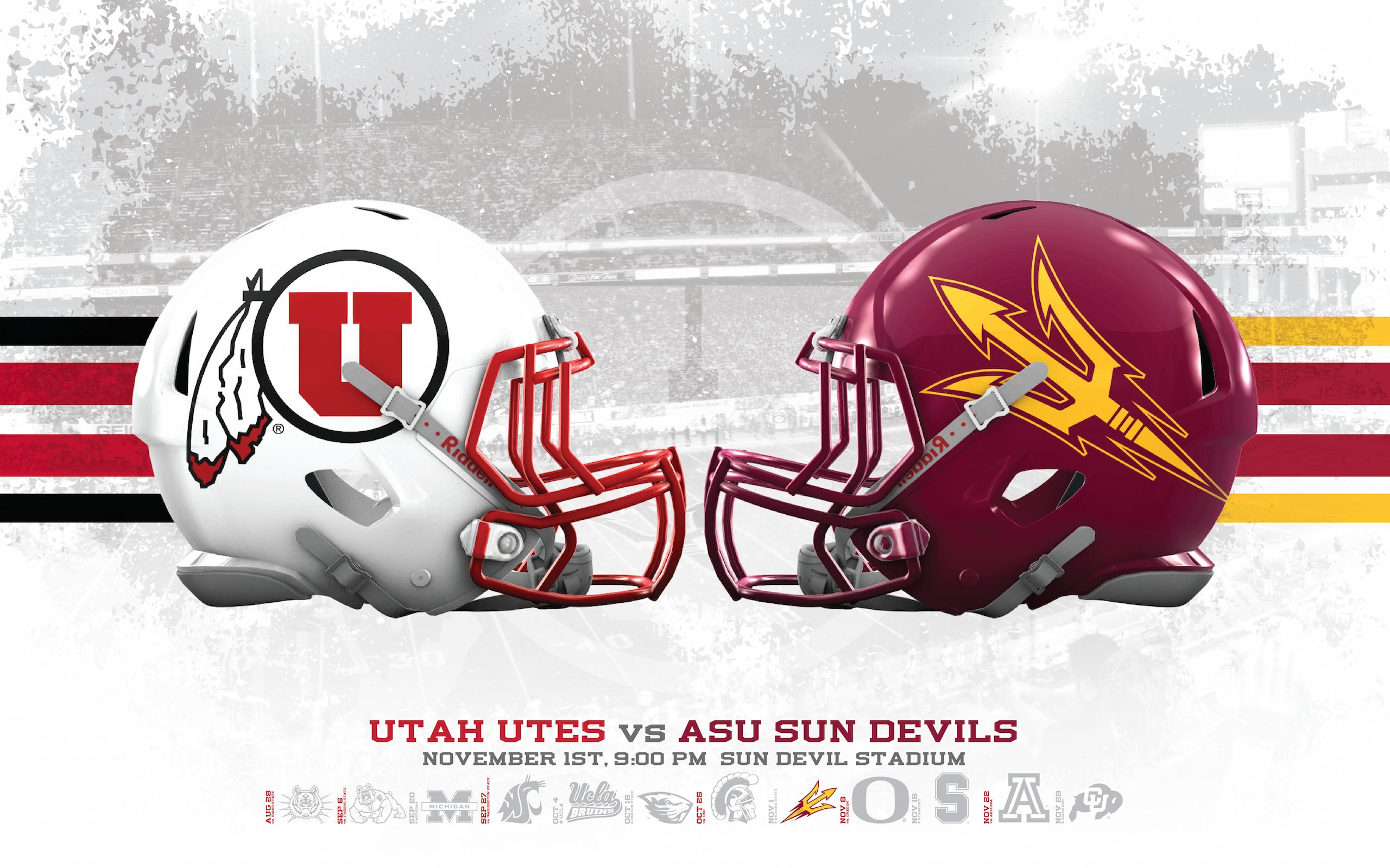 Utah Utes vs ASU Sun Devils Wallpapers Dahlelama 2560x1600
