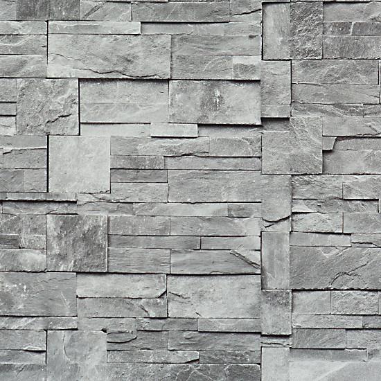 Faux Stone Wallpaper Grey Double Roll   Transitional   Wallpaper 550x550