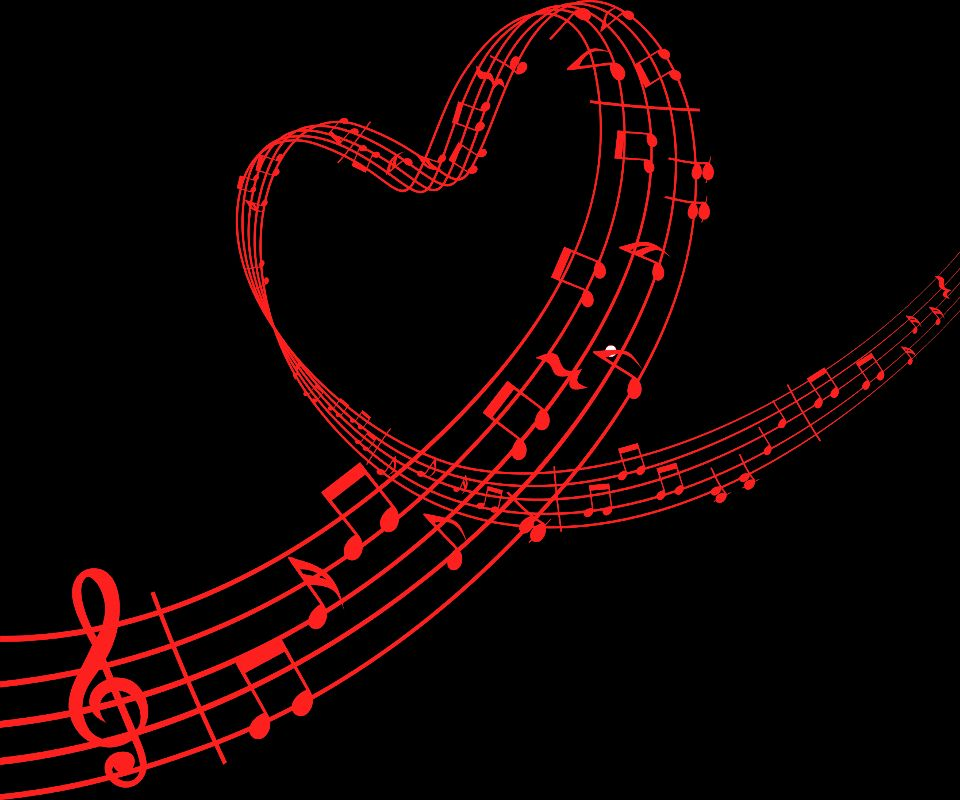 Cute Music Note Wallpaper: Red Music Note Wallpaper