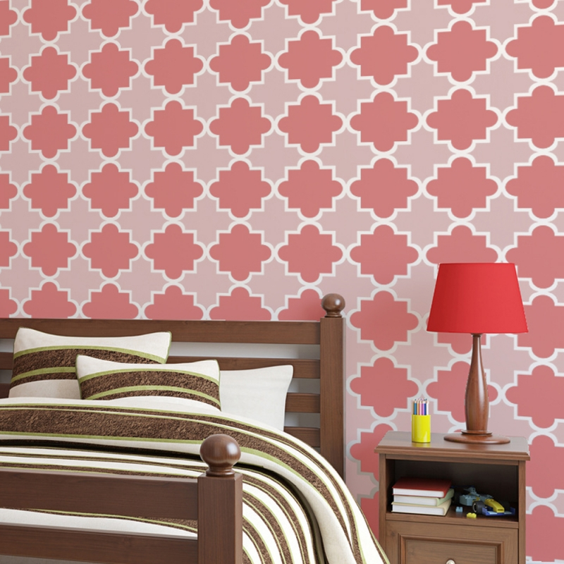 Moroccan Tiles Stencils Anne   reusable for walls just like wallpaper 800x800