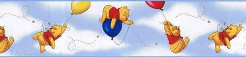 Pooh Chasing Bees in The Blue Sky Clouds Wallpaper Wall Border eBay 500x117