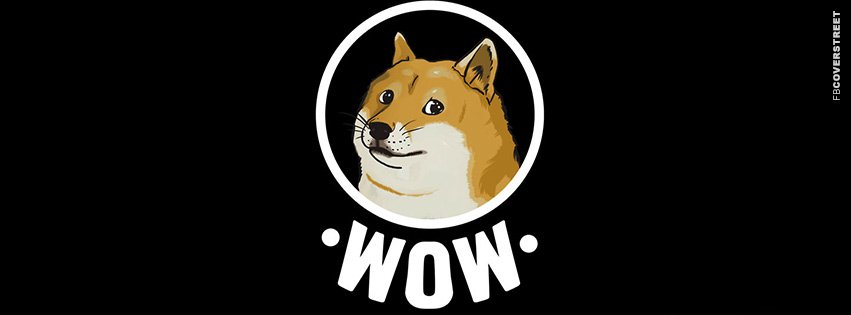 Doge Wow Meme Cover Wallpaper 851x315