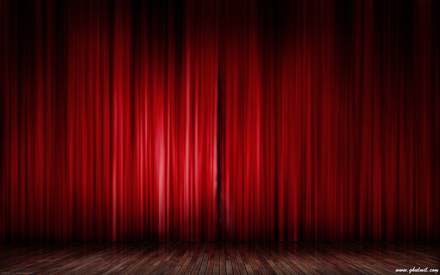 Red curtain desktop wallpaper black background and some ppt template