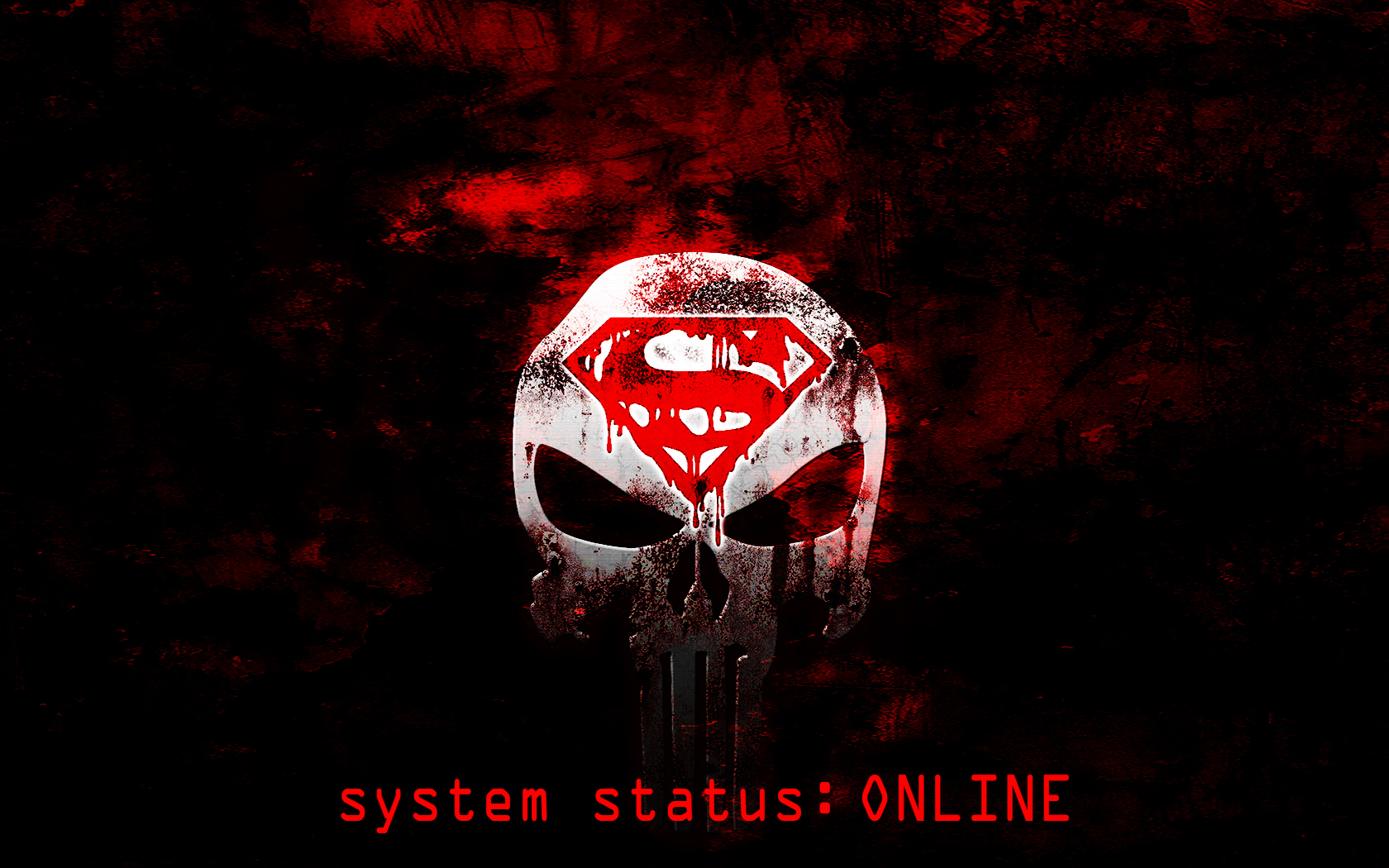 Superman/Punisher logo Wallpaper ONLINE by s1nwithm3 on ...