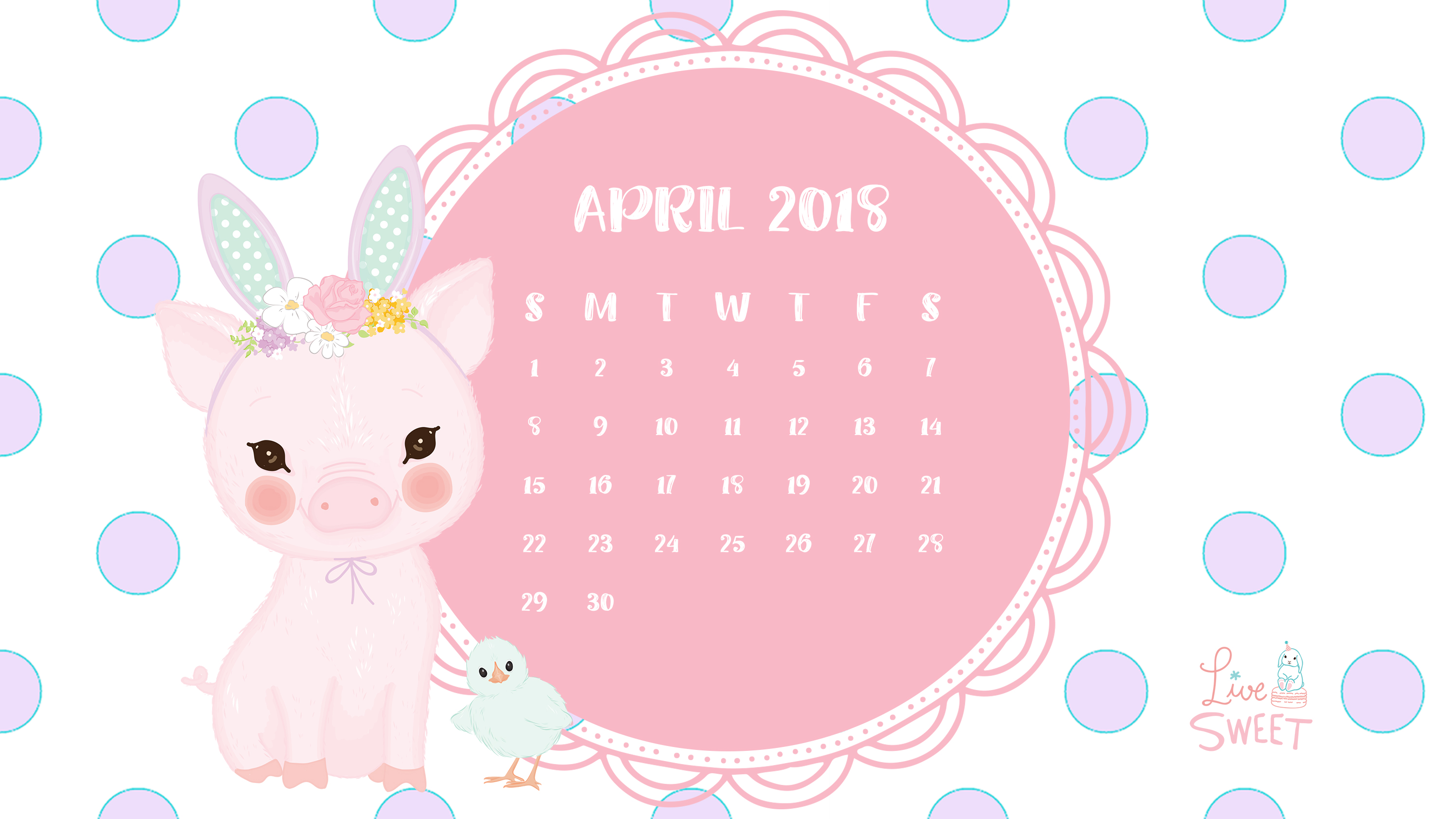 April 2018 Wallpapers   Live Sweet 2992x1683