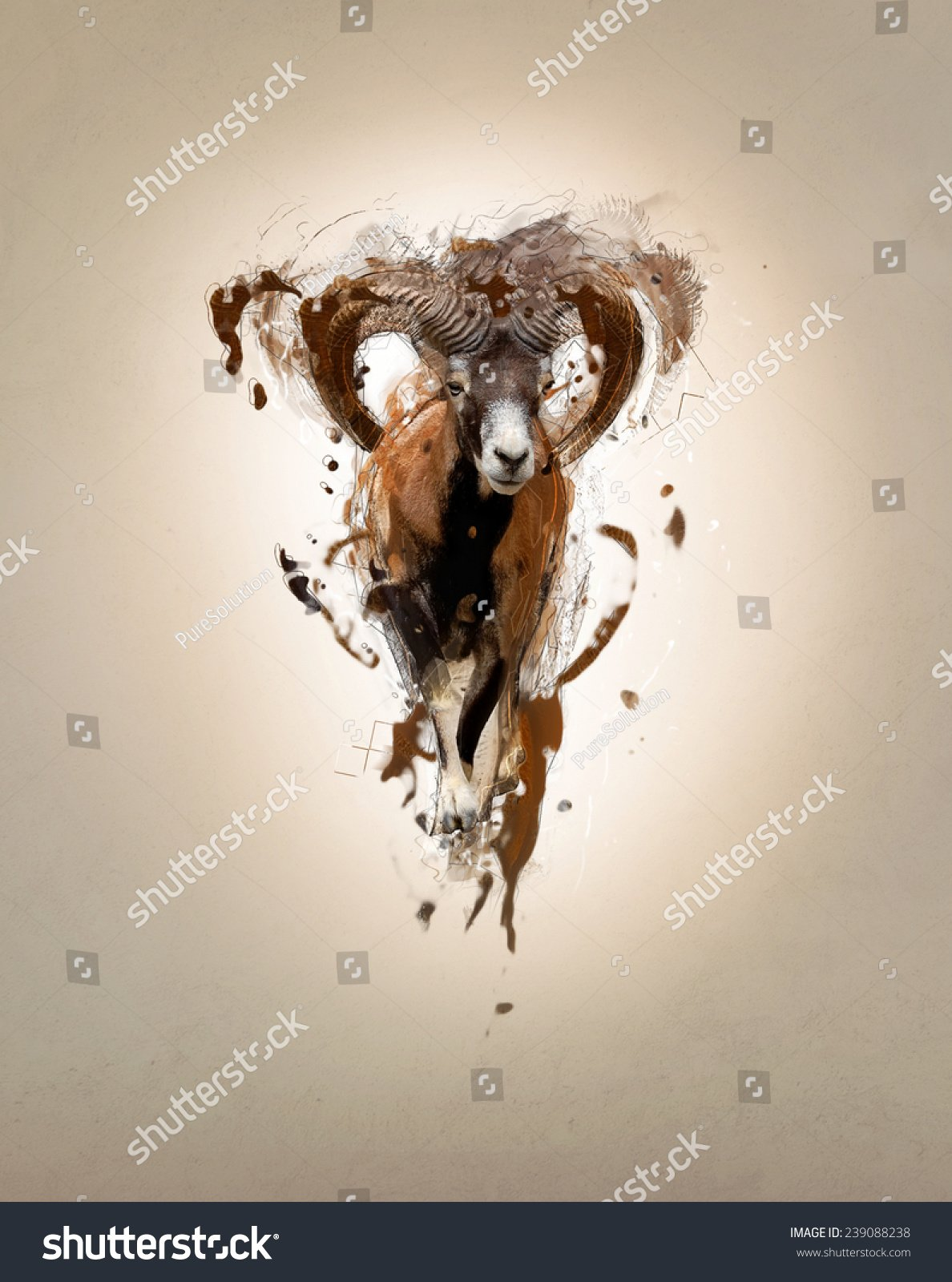 Mouflon Abstract Animal Concept Can Be Stock Illustration 239088238 1188x1600