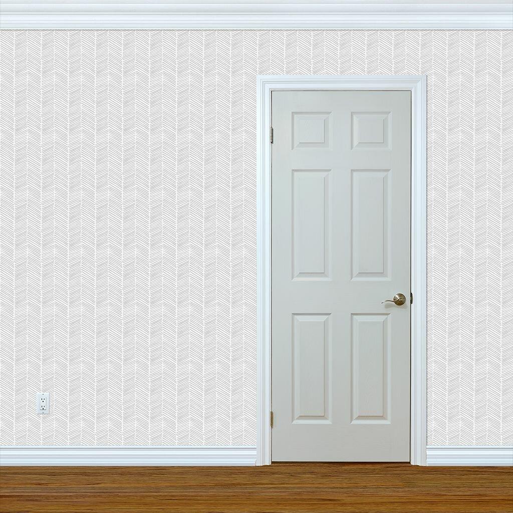 Wrought Studio Mahika Chevon Wallpaper Panel Wayfair 1024x1024