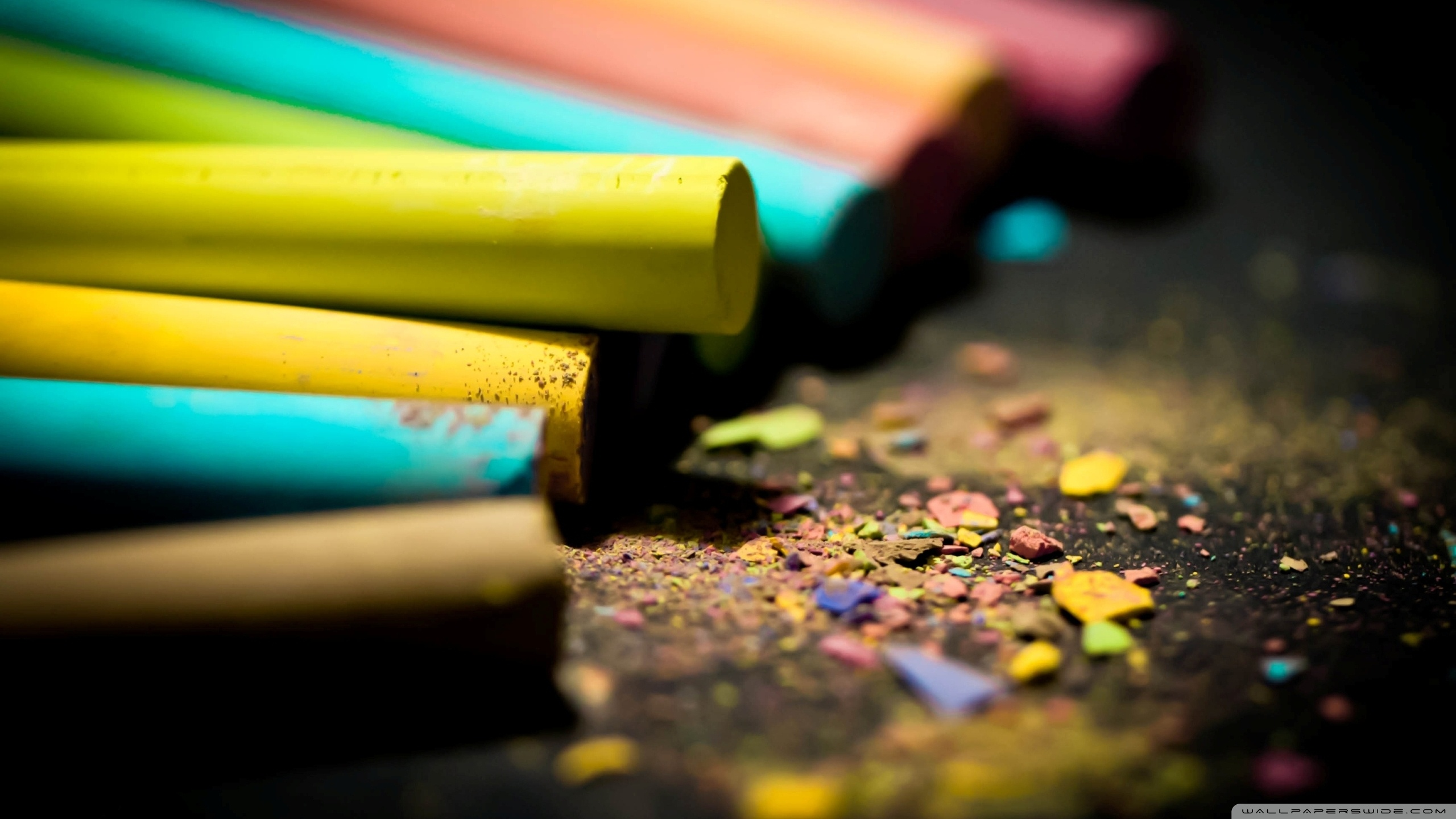 Colored Chalk 4K HD Desktop Wallpaper for 4K Ultra HD TV Dual 2560x1440