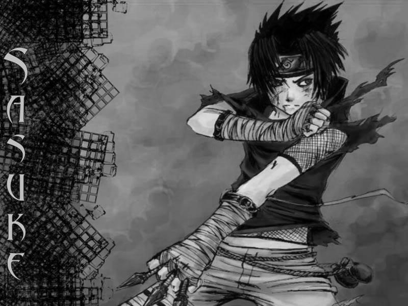Badass Black And White Sasuke Background Photo by KiriWolf 800x600
