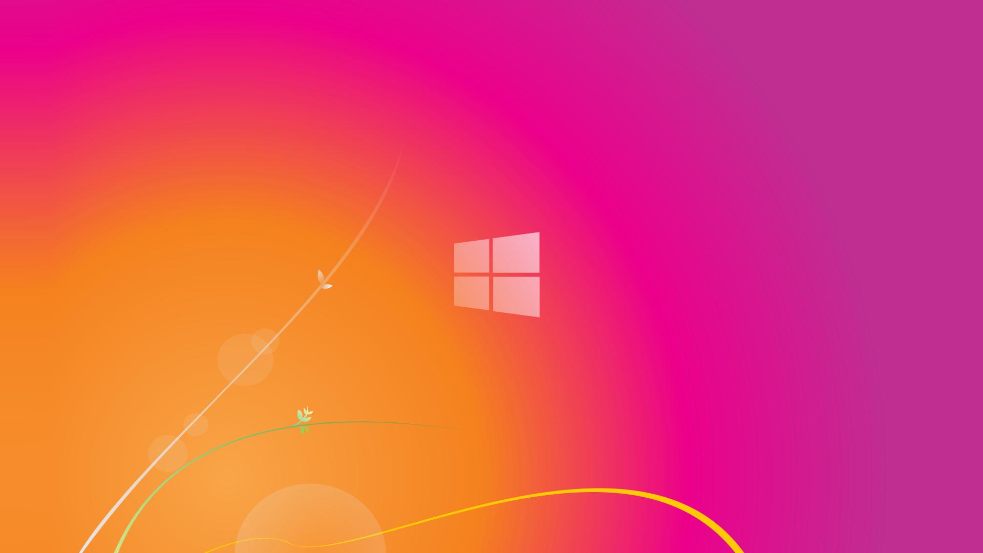 Pink Windows 81 Wallpaper 1920x1080