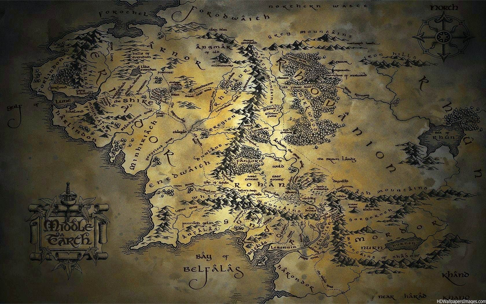 Map of middle earth wallpaper wallpapersafari - Middle earth iphone wallpaper ...