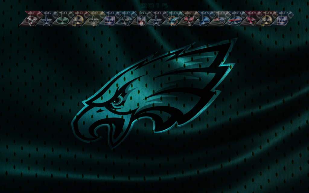 Philadelphia Eagles 2015 wallpaper with schedule by EaglezRock on 1024x640