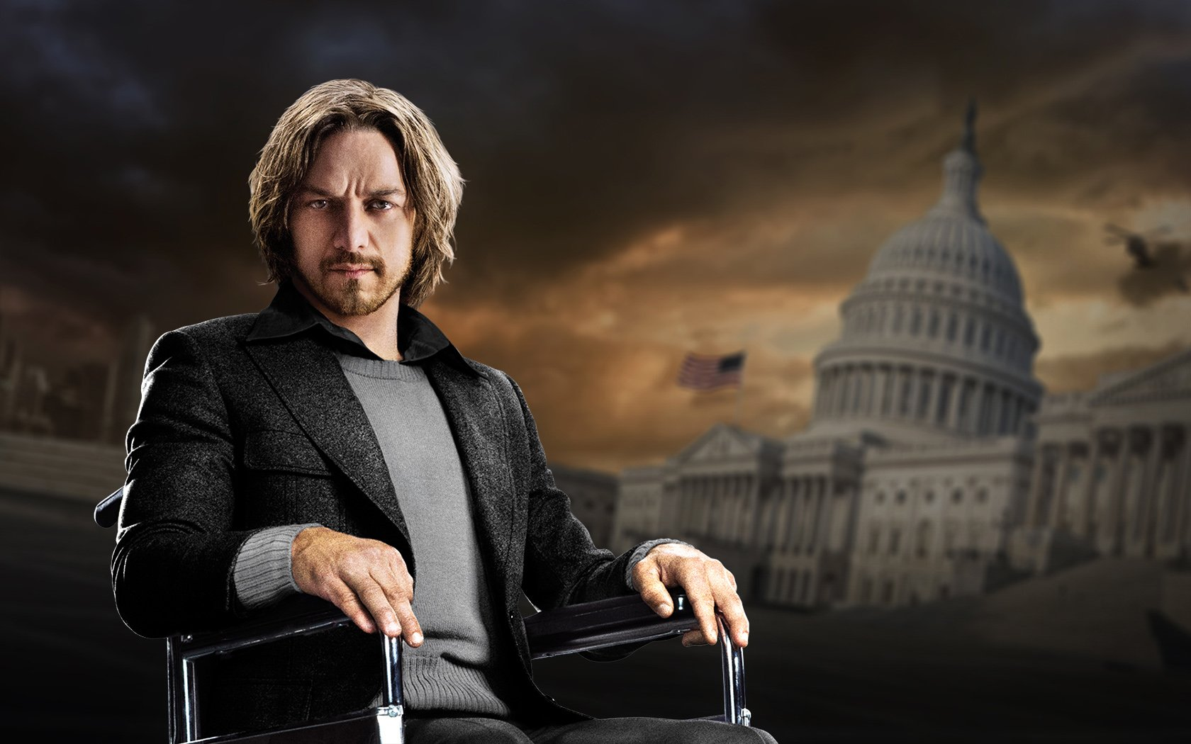 Young Professor Xavier Played By James McAvoy Wallpaper and 1680x1050