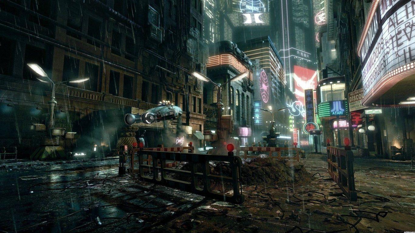 Dystopian Futuristic Wallpapers 1080p Blade runner Cyberpunk 1366x768