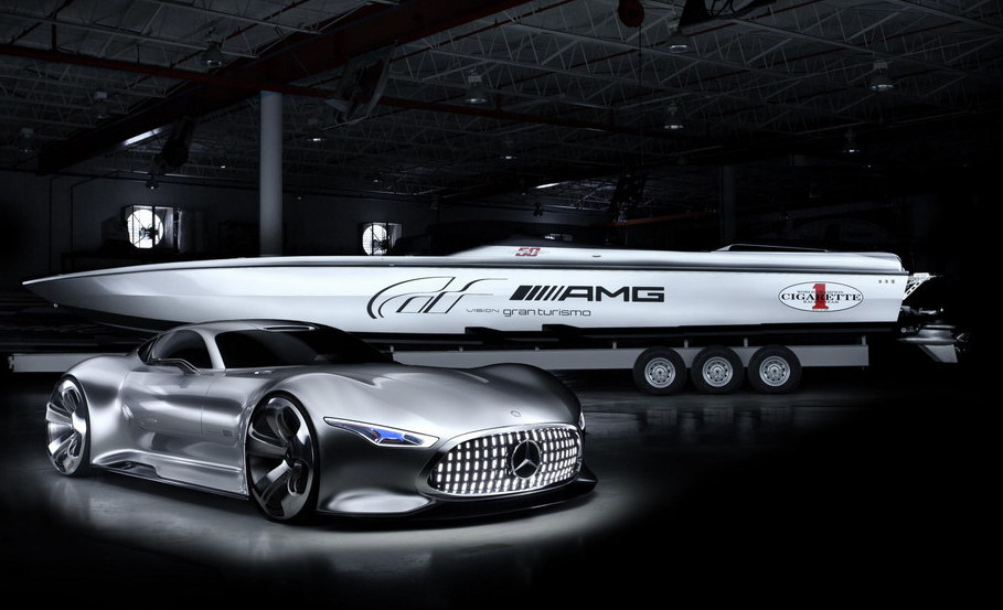 AMG Vision GT Cigarette Boat Revealed   Motorward 909x553