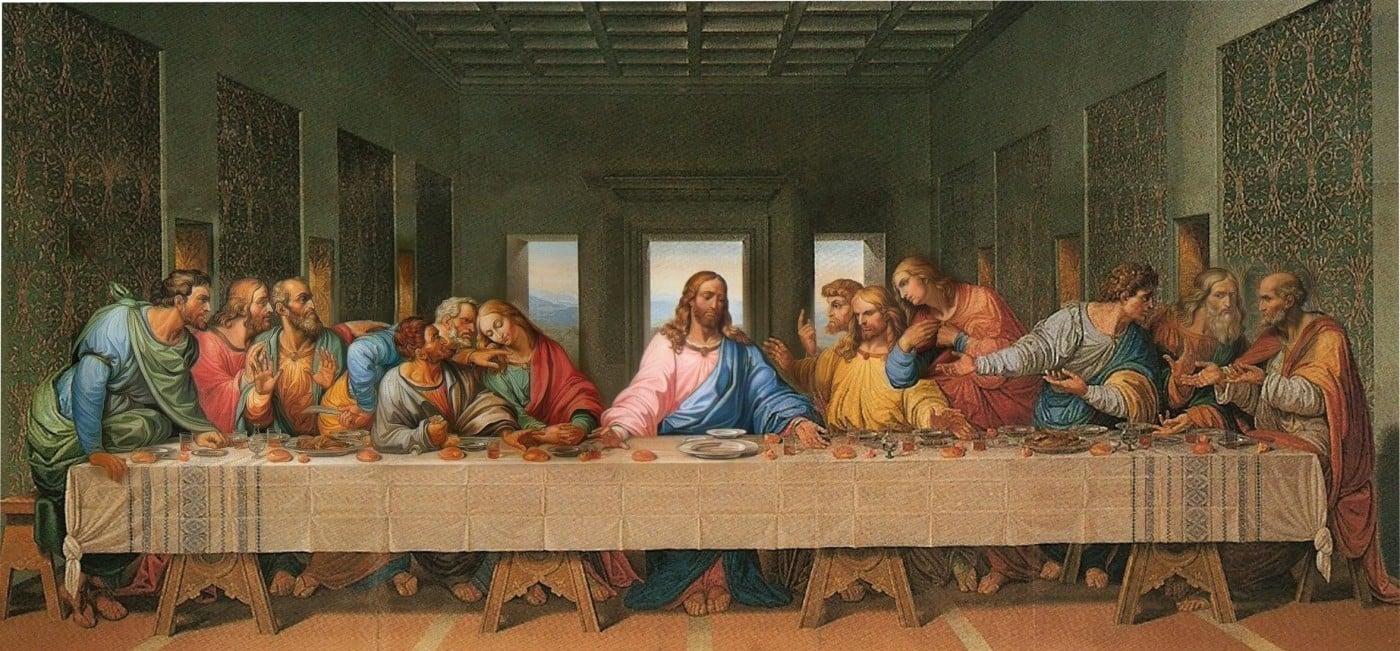 Jesus 39 dinner table wallpapers wallpapersafari - Last supper 4k ...