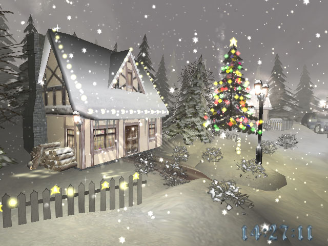 Feel the magic of Christmas with Christmas Time 3D screensaver 640x480