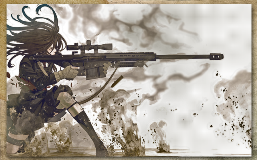 Badass Anime Girls Wallpaper Anime badass by carolynn 900x563