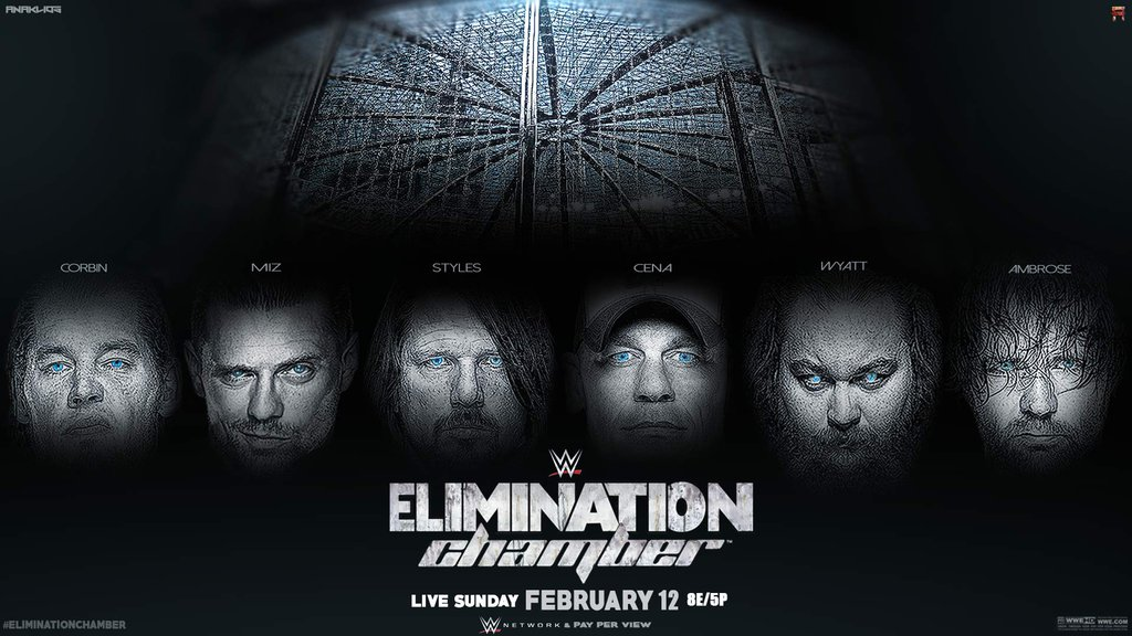 WWE Elimination Chamber 2017 PPV Wallpaper by Anaklios on 1024x576