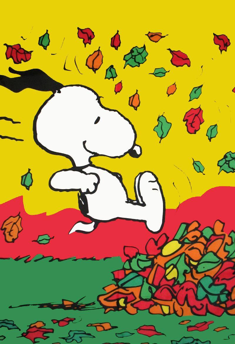 wwwetsycomlisting32408769snoopy peanuts fall fun in leaves cotton 800x1173