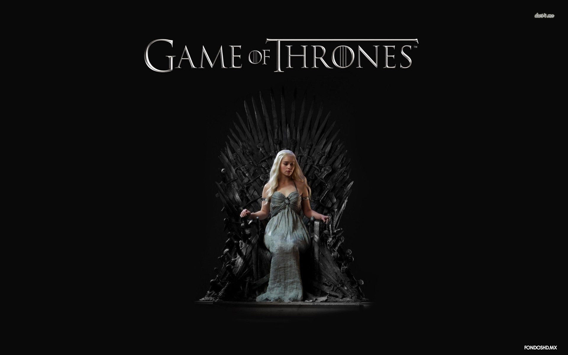 Daenerys Sentada en el Trono de Hierro 1920x1200   Fondo hd 3585 1920x1200