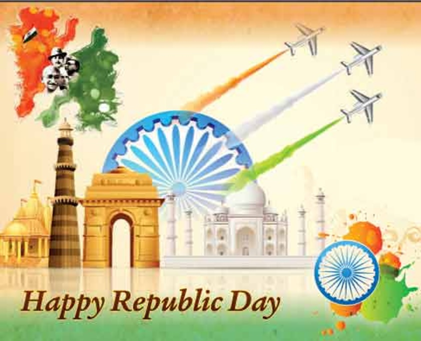 Republic Day Quotes Wishes Messages SMS Greetings 2020 841x682