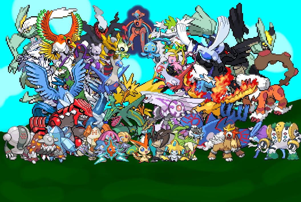 all legendary pokemon by 3dBeasts 1055x710
