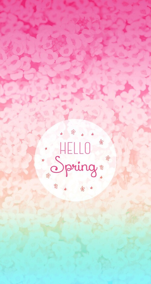 Free Download Android Hello Spring Hello Flower Floral Quote