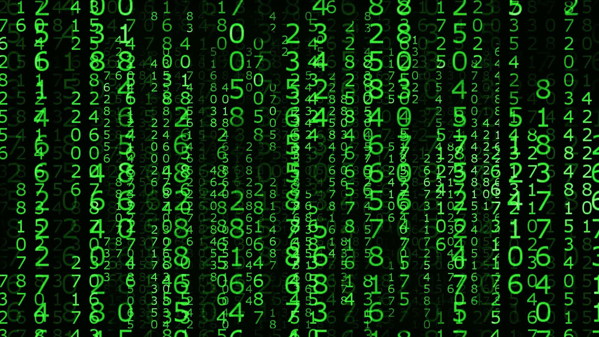 The Matrix Number Falling Code HD Bacground 1920x1080