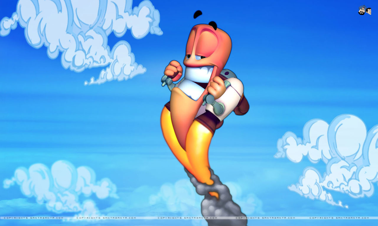 Wallpaper Worms Worms 3D vdeo game 1280x768