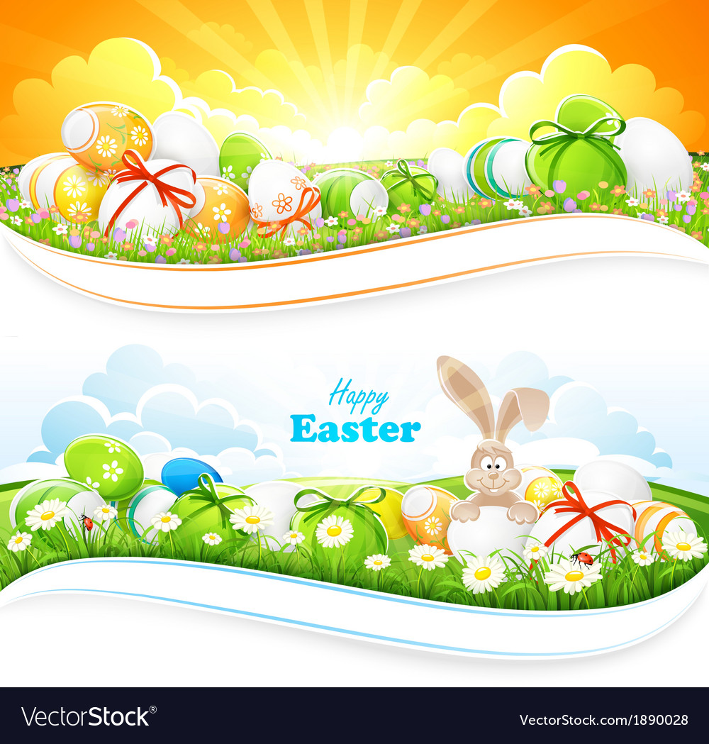 Easter backgrounds Royalty Vector Image   VectorStock 1000x1049